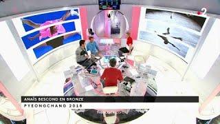 JO 2018 : JO Club - L'accolade entre Martin Fourcade et Anais Bescond