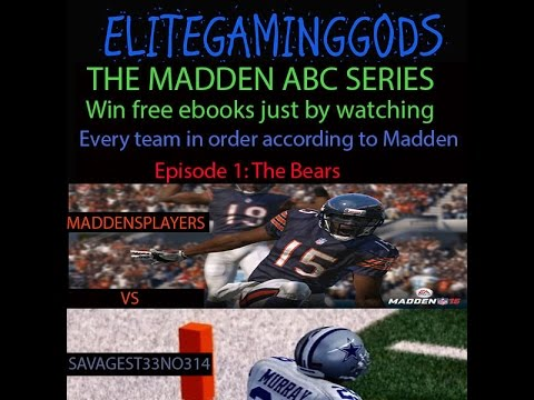 Madden 15 Series Maddens ABC Episode 1   Bears vs Cowboys by Maddensplayers