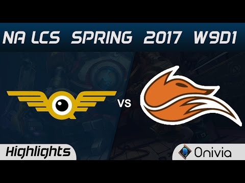 FLY vs FOX Highlights Game 1 NA LCS Spring 2017 W9D1 FlyQuest vs Echo Fox