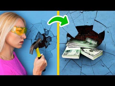 23 тайника для денег дома! Лайфхаки, как спрятать деньги