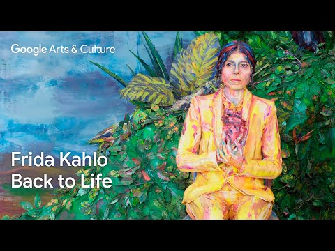 Frida Kahlo brought to life by Alexa Meade, Ely Guerra, and Cristina Kahlo | #GoogleArts