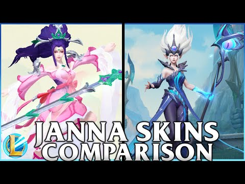 Jann Skins Comparison | Tempest Janna and Sacred Sword Janna | WILD RIFT