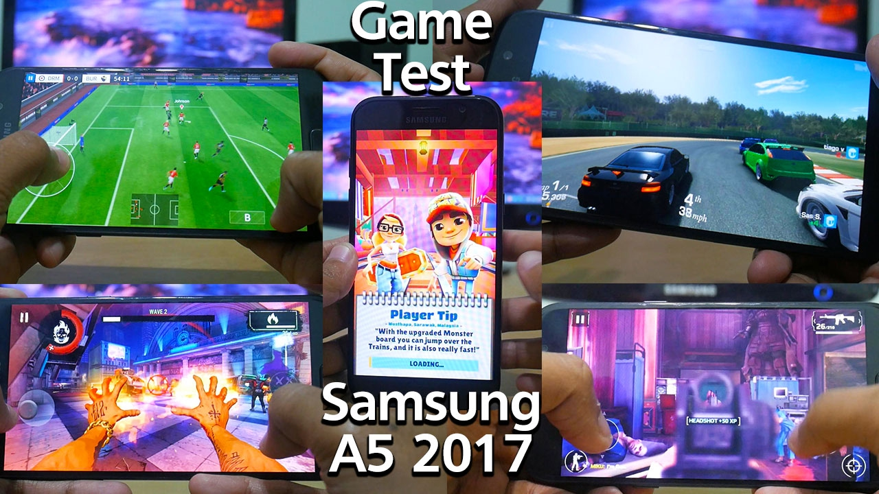 game test samsung a5 2017 youtube. Black Bedroom Furniture Sets. Home Design Ideas