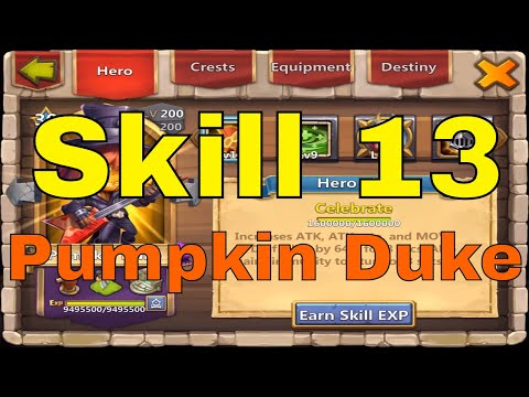 Castle Clash Skill 13 Pumpkin Duke Upgrade And Gameplay