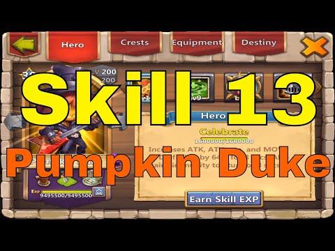 Castle Clash Skill 13 Pumpkin Duke Upgrade And Gameplay