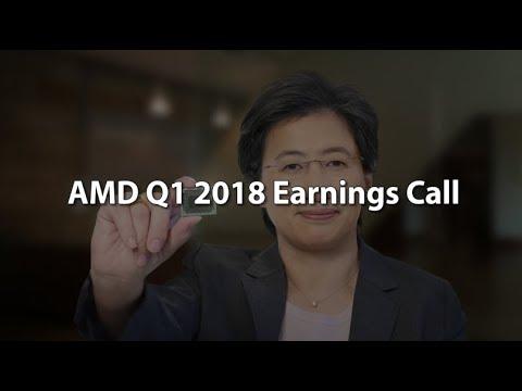AMD Q1 2018 Earnings Call. $1.65 billion revenue, $120 million op. income , 81 million net income