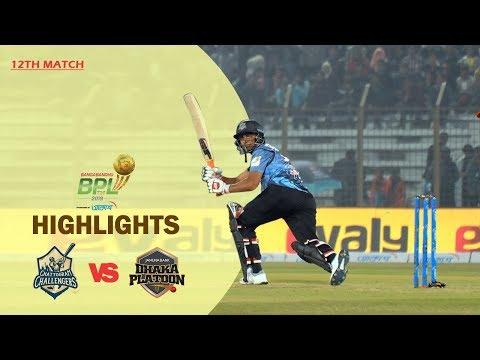 Chattogram Challengers vs Dhaka Platoon Highlights   12th Match   Season 7   Bangabandhu BPL 2019-20