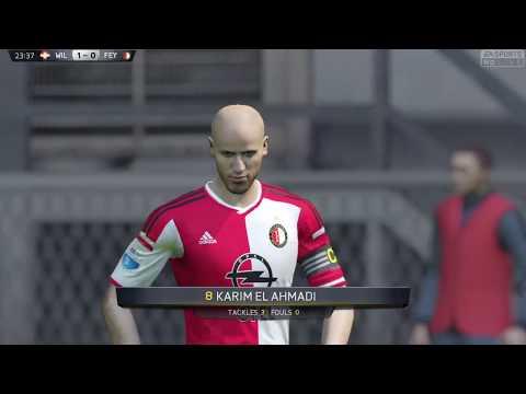 Fifa 15 || willem ii vs feyenoord live ii netherlands eredivisie