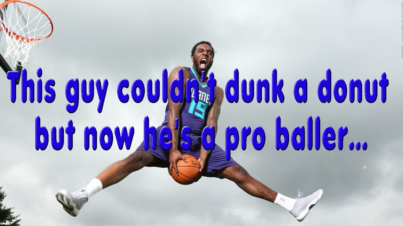 This guy couldn t dunk a donut but now he s a pro baller… - YouTube a399b531d