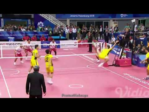 Indonesia Vs Jepang Highligts Final Sepak Takraw Asian Games 2018