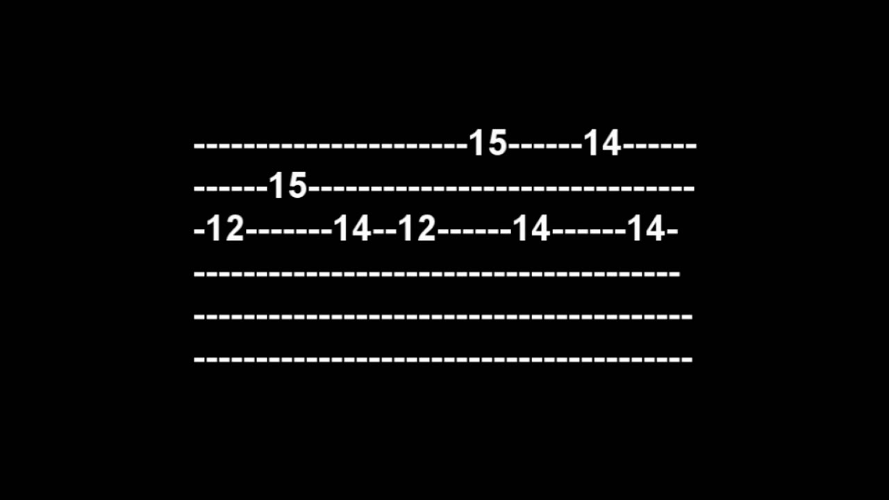 How To Play Sweet Child O Mine Intro Tabs With Sounds Youtube