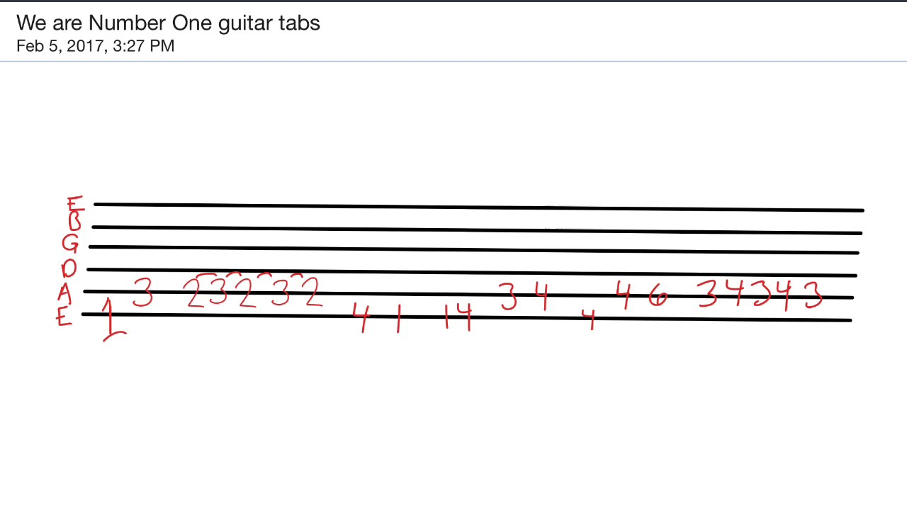 We Are Number One Guitar Tabs - YouTube