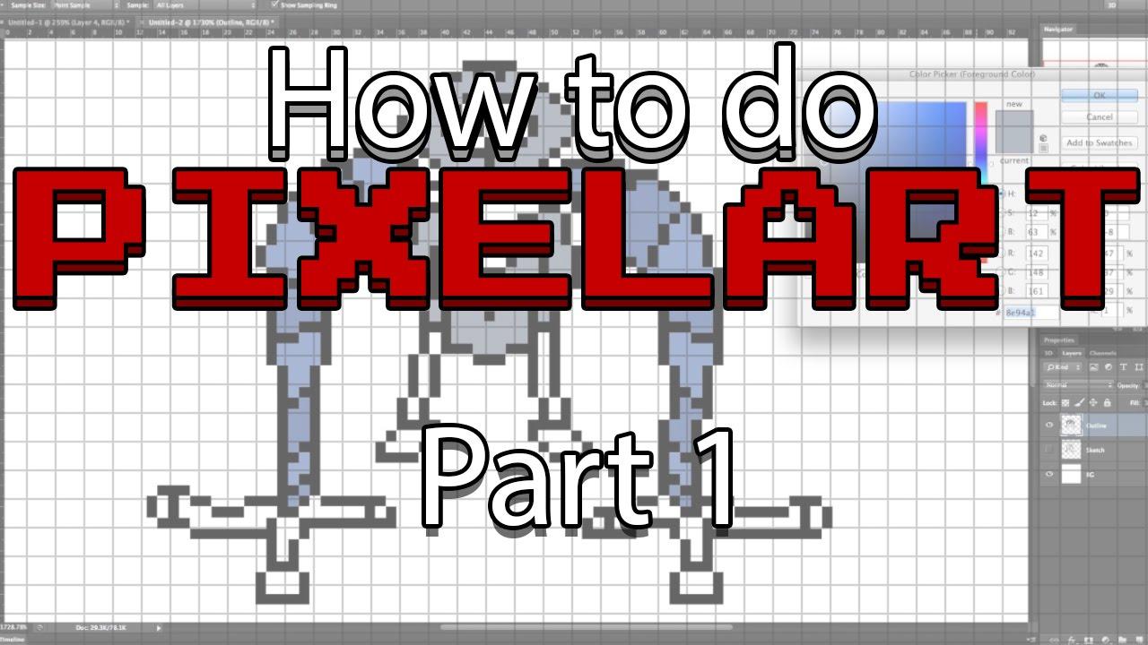 How To Do Pixel Art Basics 1 Youtube