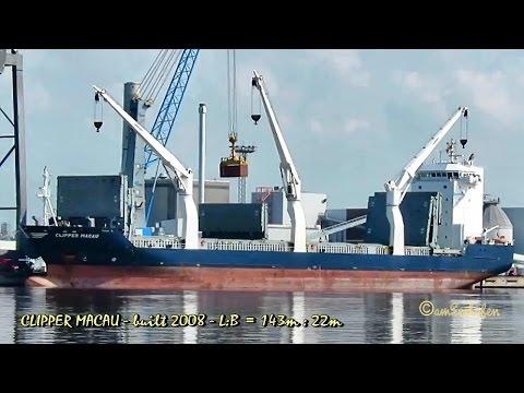 CLIPPER MACAU V2DM3 IMO 9368326 Emden cargo seaship merchant vessel Seeschiff