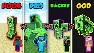 Minecraft NOOB vs. PRO vs. HACKER vs. GOD: MUTANT CREEPER in Minecraft! (Animation)