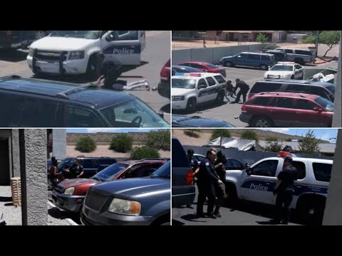 GRAPHIC RAW VIDEO: Citizens record on cellphones alleged Phoenix police misconduct