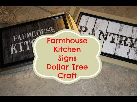 Farmhouse Kitchen Signs Dollar Tree Craft