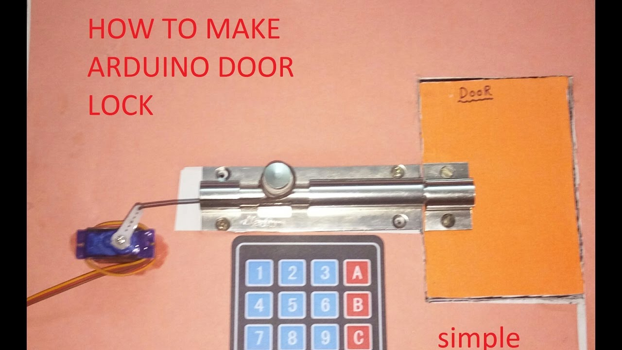 How To Make Arduino DOOR LOCK HINDI  YouTube