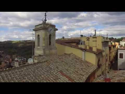il castello di Riano con il drone