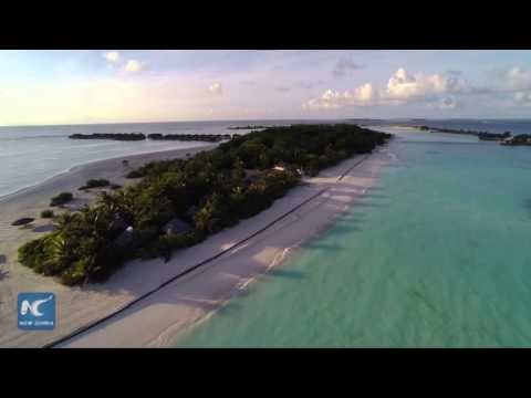 Aerial photography of views in Maldives