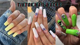 TIKTOK NAIL HACKS AND TUTORIALS | ACRYLIC NAIL TIPS (tiktok compilation 2021)