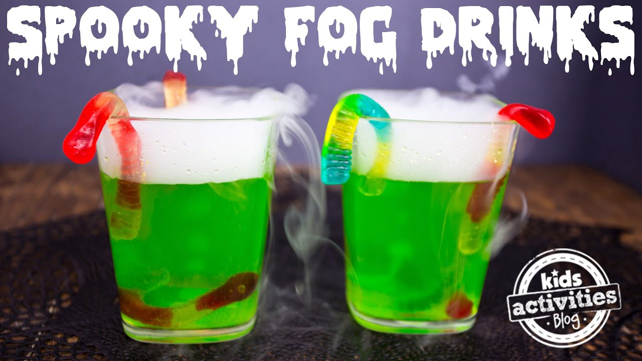 spooky fog drinks for a halloween party youtube - Halloween Themed Alcoholic Shots