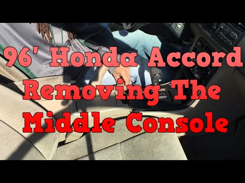 1996 Honda Accord Removing Middle Console