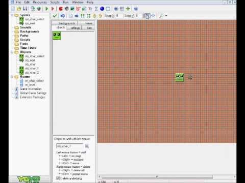 how to make a character select in game maker