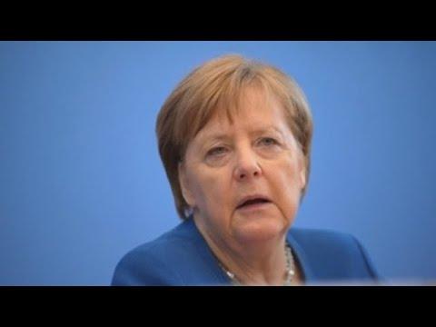 Merkel da negativo de covid-19 en un primer test