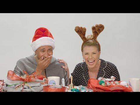 Jodie Sweetin Joins Kalen Allen in Ugly Christmas Sweater DIY Challenge