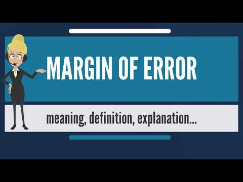 What is MARGIN OF ERROR? What does MARGIN OF ERROR mean? MARGIN OF ERROR meaning