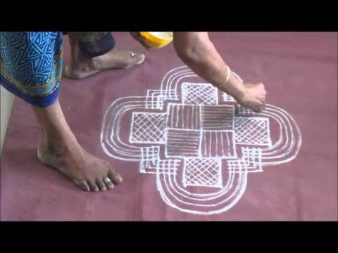 Festival kolam   Tamil New year's Day  Vishu 2016 mp4 A12