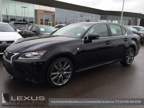 new black on black 2014 lexus gs 350 4dr sdn awd f sport package review downtown edmonton. Black Bedroom Furniture Sets. Home Design Ideas