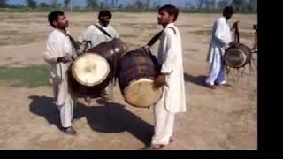 Dhol - Drum Beating Competition - AmjadsVillage Gogera Gugera Okara Punjab Pakistan
