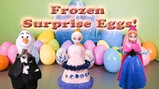 FROZEN Disney Frozen Elsa and 30 Surprise Eggs a Frozen Surprise Egg Video