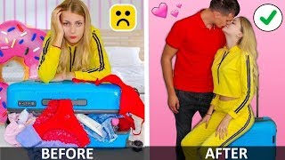Simple DIY How Girls Need Pack A Suitcase! More Outfit Hacks...