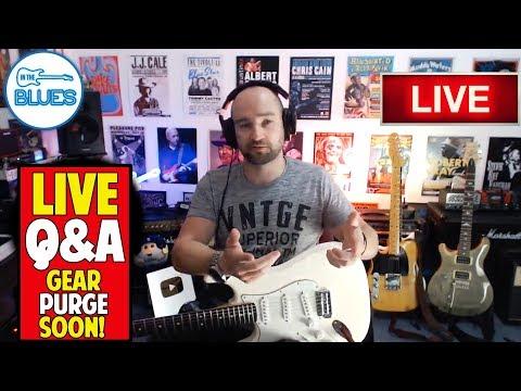 Super-Sonic 60 Tones, Kemper Vs Helix, Gear Purge - INTHEBLUES Live Stream