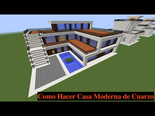 Como hacer una casa moderna en minecraft pt1 123vid for Casas modernas minecraft keralis