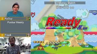 Purdue Weekly 9/19/18 - Money Match - (Falco/Young Link) RyGuy vs Free$ (Fox/Captain Falcon)