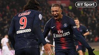 PSG v Guingamp (9-0) | Cavani and Mbappe hit hat-tricks and Neymar scores two | Highlights