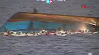 Video released of migrant ship rocking, then capsizing