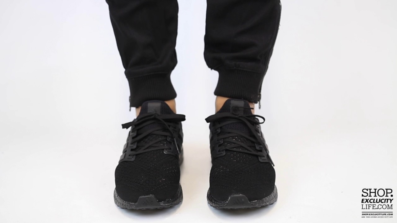 cbdc9c4700d27 Adidas Ultraboost LTD Triple Black On feet Video at Exclucity - YouTube