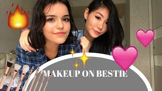 DOING ✌🏻MY BEST FRIEND's MAKEUP💘🔥 while playing 21 Questions😅~