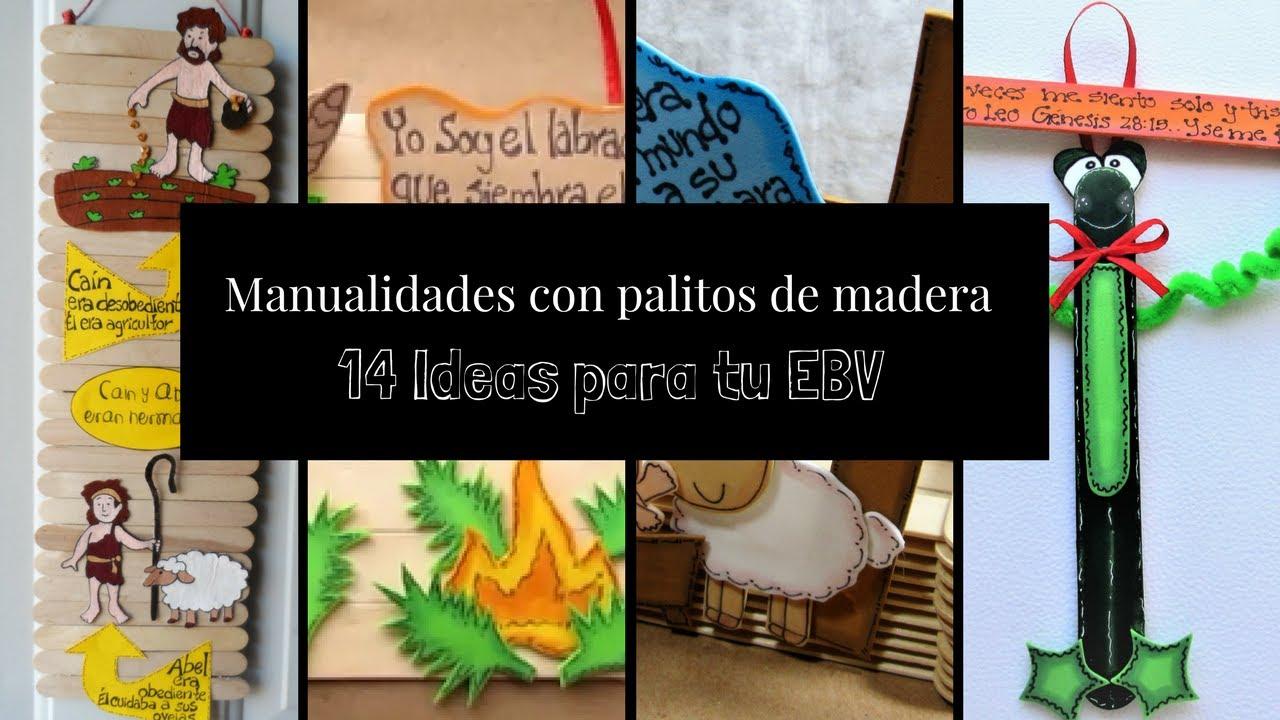 14 manualidades cristianas con palitos de madera youtube - Manualidades con madera ...
