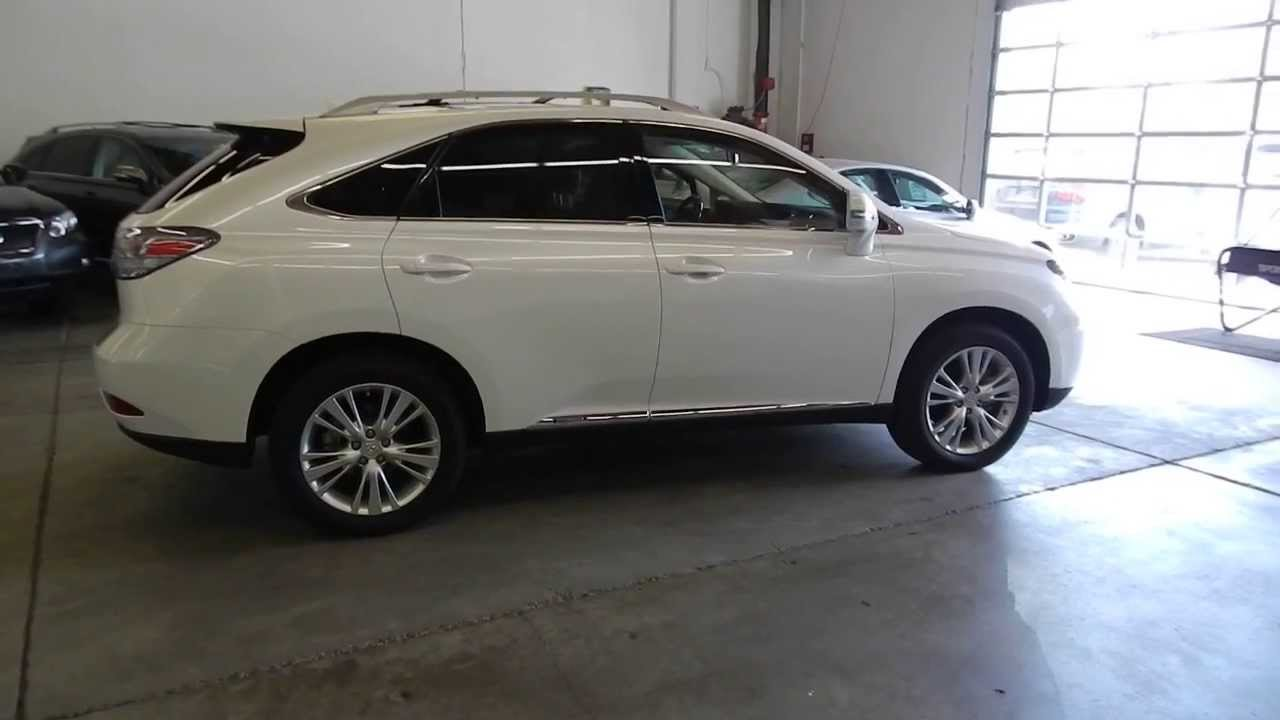 2012 lexus rx450h starfire pearl white stock 429156 walk around