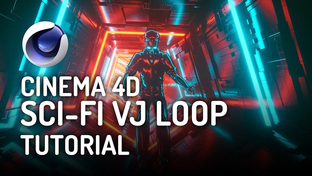 SCI-FI VJ Loop Tutorial Using Octane Render in Cinema 4D
