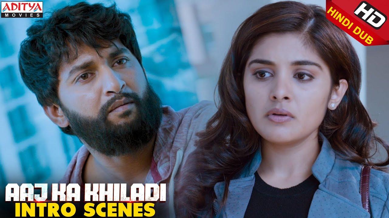 Download Nani & Nivetha Thomas Intro Scenes   Aaj Ka Khiladi Latest Hindi Dubbed Movie   Nani, Nivetha Thomas