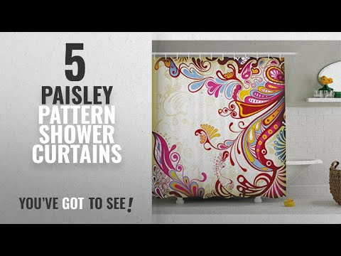 Top 10 Paisley Pattern Shower Curtains [2018]: Flower Bouquet with Paisley Pattern Colorful Floral