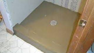 Installing Mortar Shower Pan Video