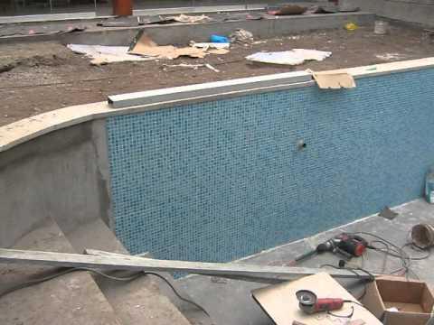 enchape de piscina con pepelma parte 1 youtube